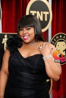 Amber Riley arrives