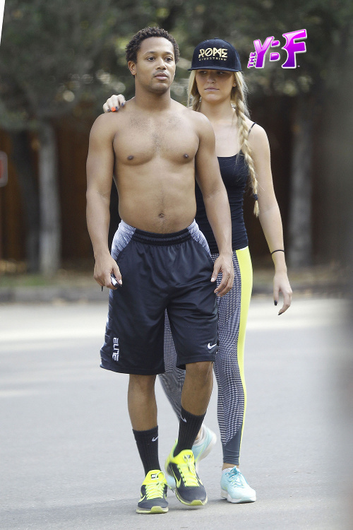A Shirtless (& Sexy) Romeo Miller Gets Sweaty On A Hike With