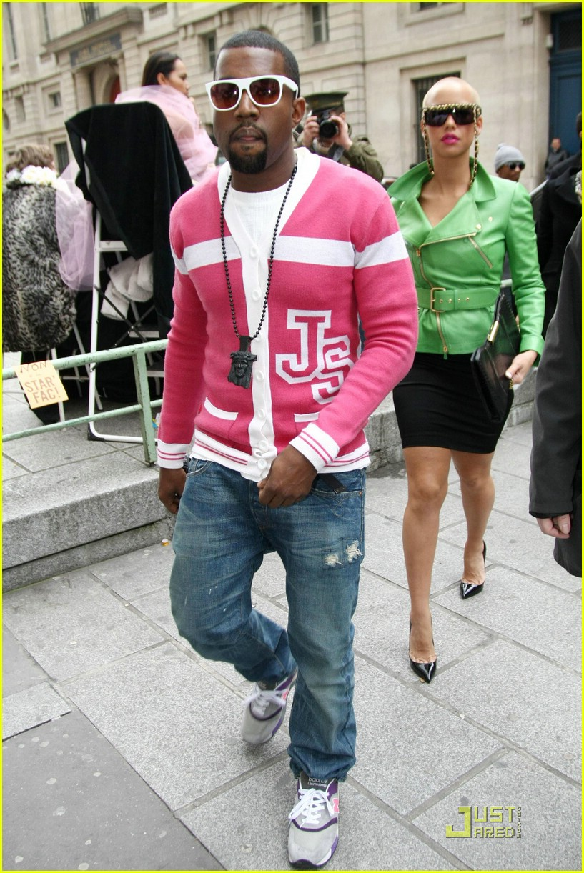 kanye west fashion style pink pictures